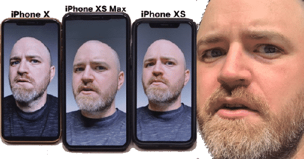 iPhone X, XS and XS Max selfie comparison