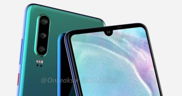 render of huawei P30 with triple camera