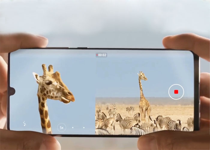Huawei P30 series dual-view video