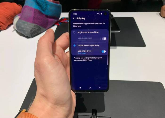 Samsung S10 Bixby remapping setting