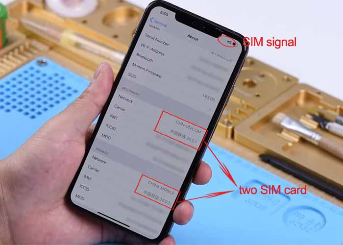 How to modify iPhone XR/XS from single SIM card phone to