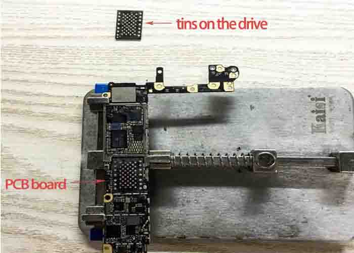 iPhone drive on motherboard