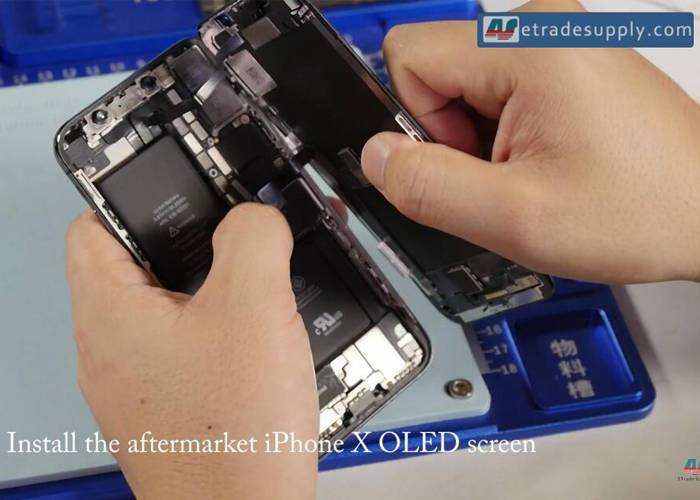 install iPhone X OLED screen