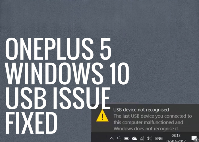 OnePlus 5 Not Recognized by Windows