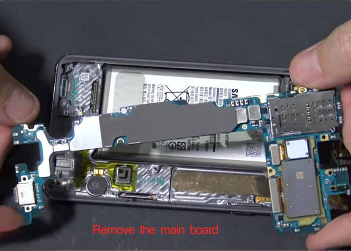 remove and pry up the main board