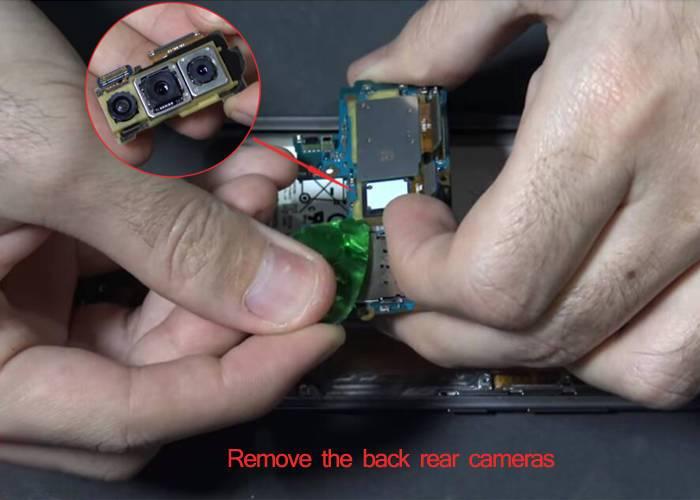 remove the Samsung S10 rear facing cameras