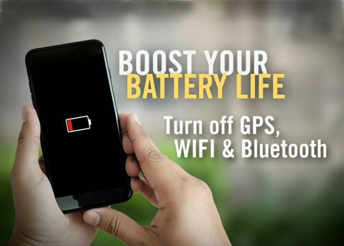 turn off bluetooth, wifi and GPS
