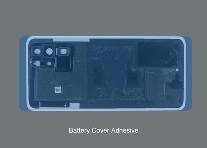 place the battery cover adhesive