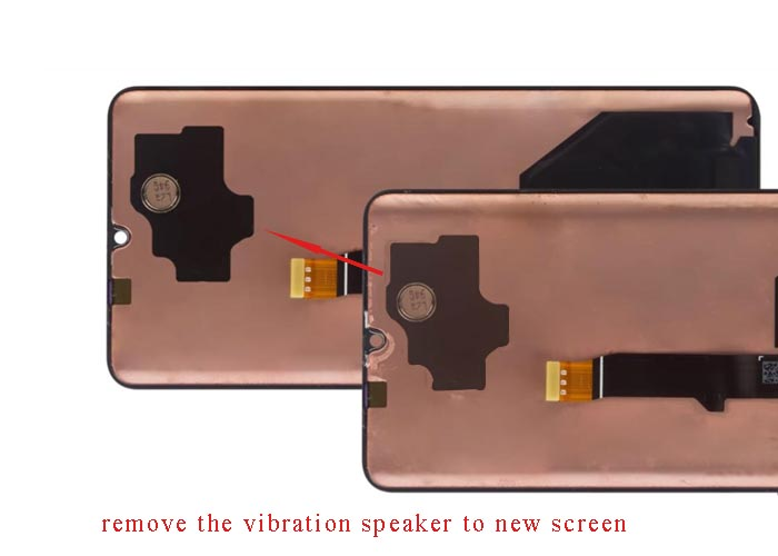 remove the vibration speaker to the new screen