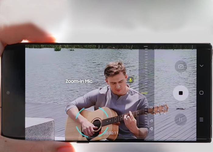 Samsung Note 10 Zoom in Mic