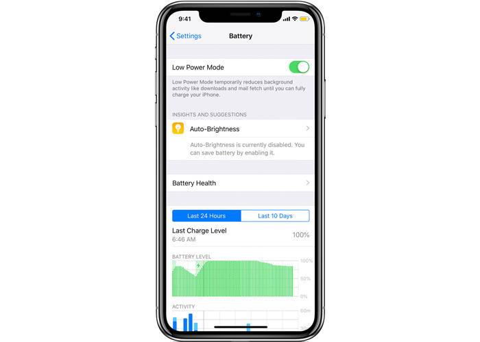 iPhone XR Low Battery Mode