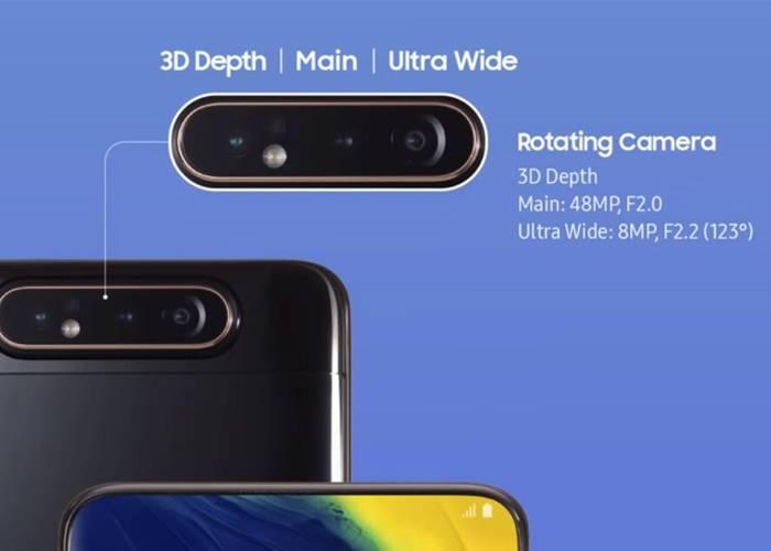 Samsung A80 triple rotating Cameras