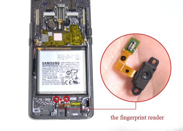 take out the fingerprint reader
