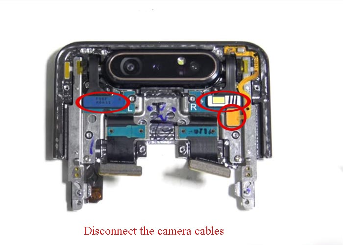 disconnect the camera cables