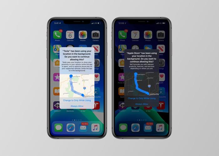 iOS 13 location sharing