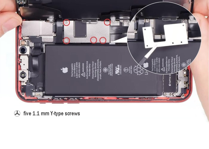 remove the five y-type screws and the cover plate