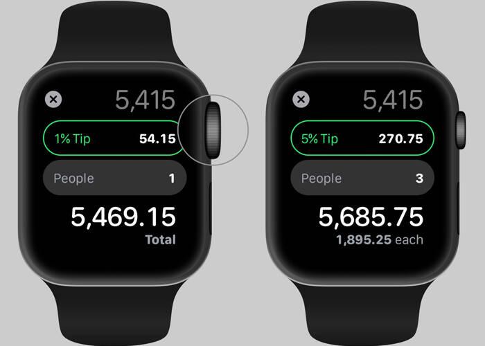 calculate App on Apple watch 5