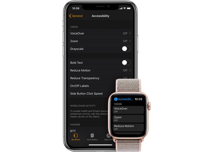 enable zoom functionality on Apple watch 5