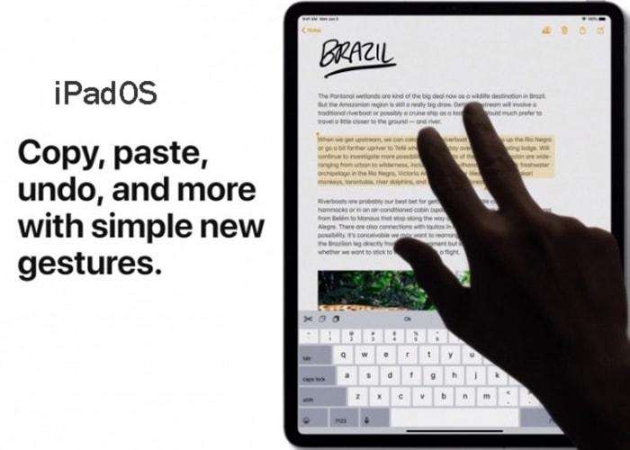 iPadOs new gestures