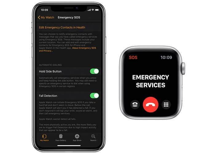set up emergency SOS on Apple watch 5