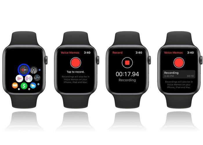 Voice recording App on Apple Watch 5