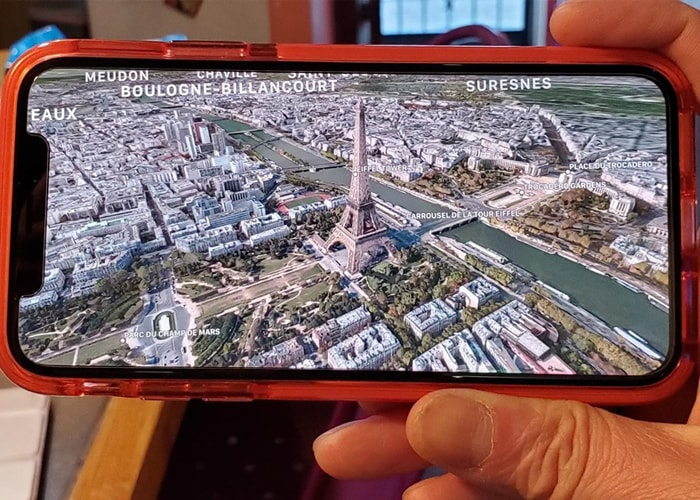 iPhone 11 Pro 3D Map