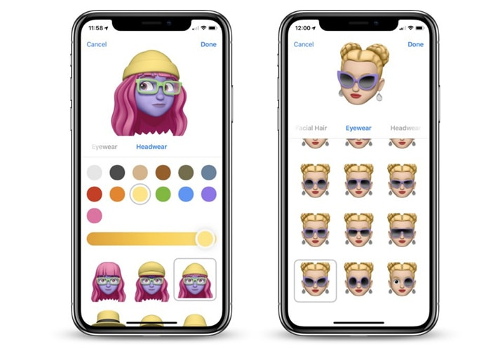Memoji for friends on contact list