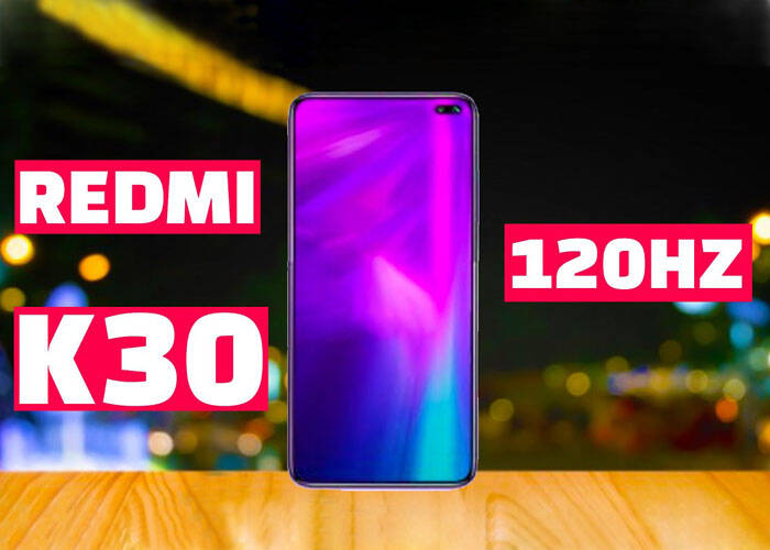 Redmi K30 6.67 inches LCD display with 120Hz sensor