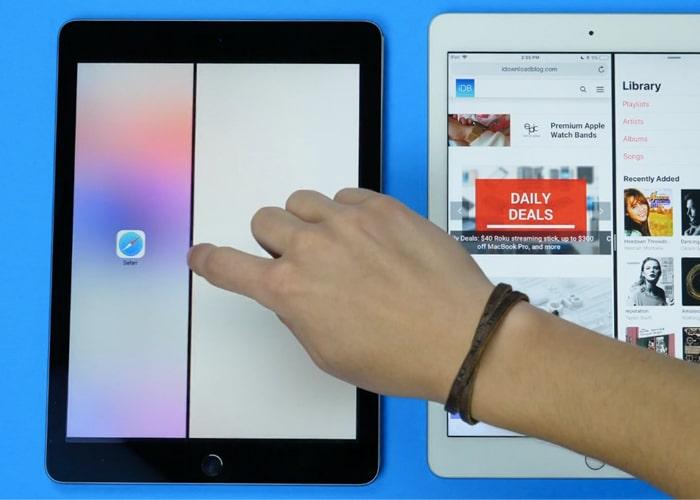 iPadOS 13 split view windows