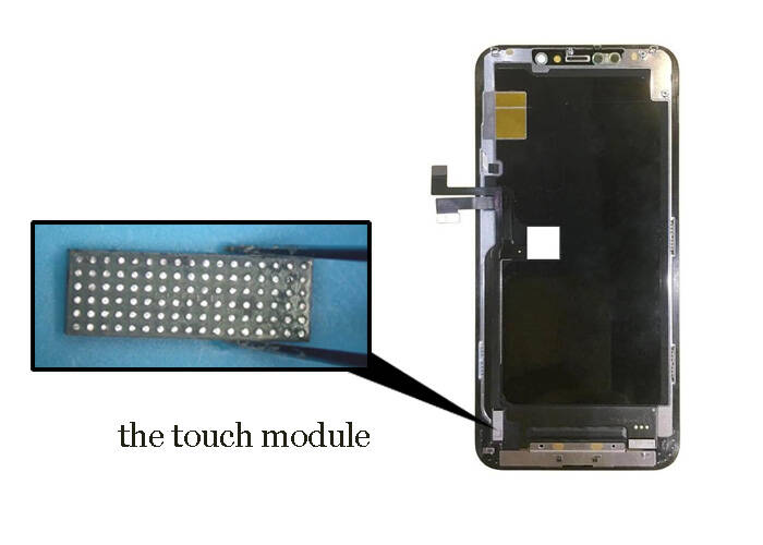 the touch module on the iPhone 11 display