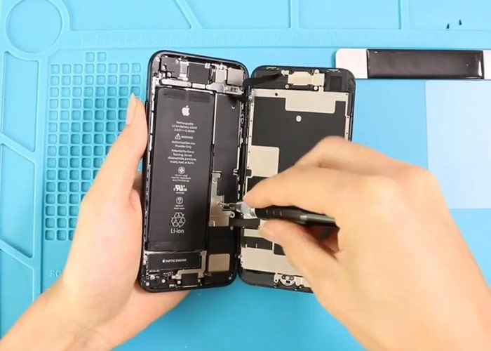 loosen the screws and remove the metal panel