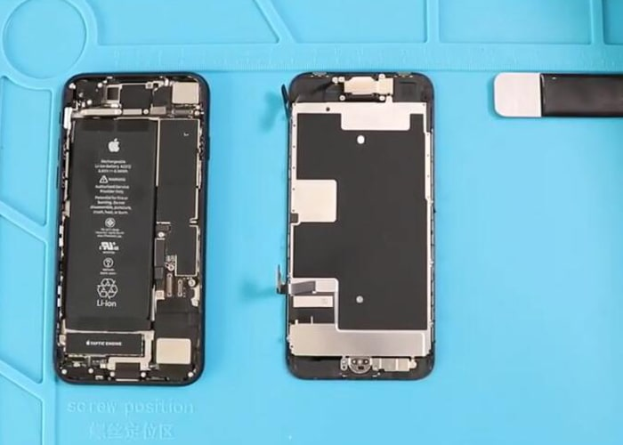 separate the iPhone display completely