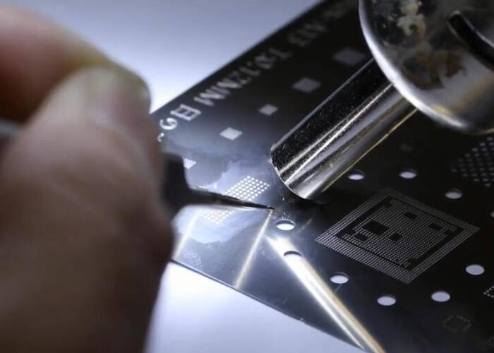 solder reball the touch module