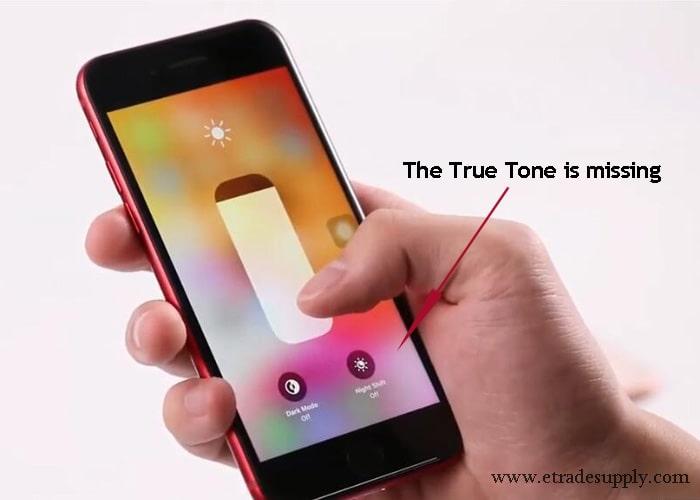 True Tone is missing on iPhone 8 display screen