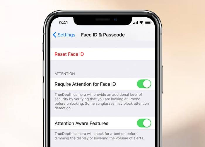 iPhone Attention Aware features