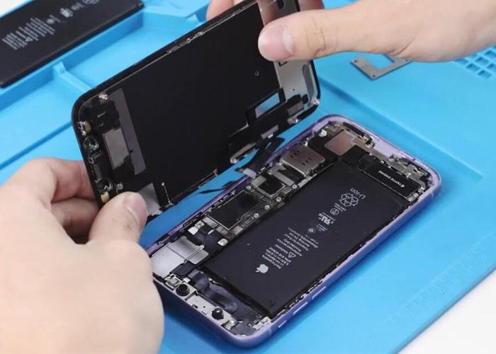disconnect the battery flex and remove the display
