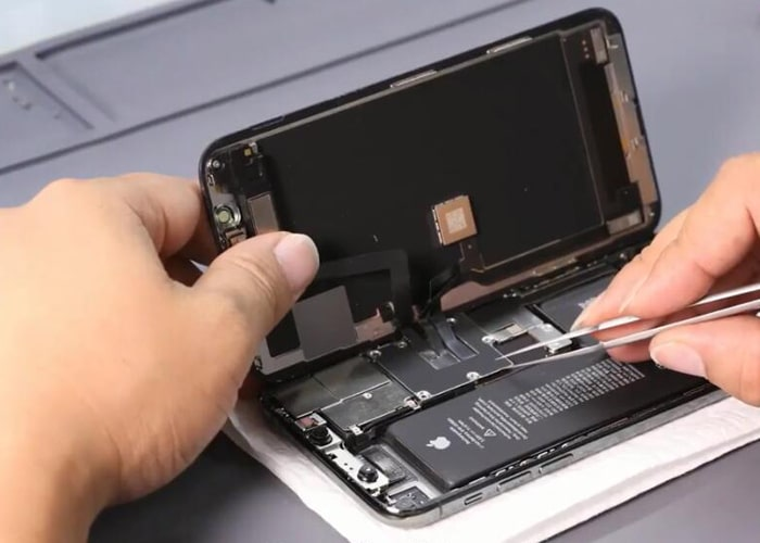 Disconncet and separate the iPhone X display screen