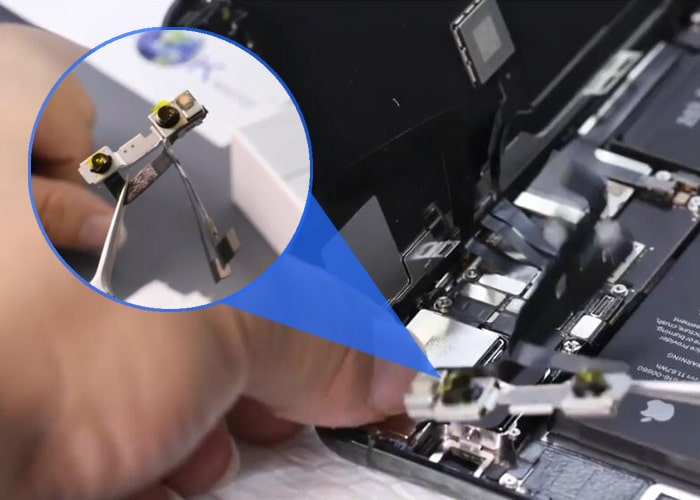 Take off the front-facing camera module