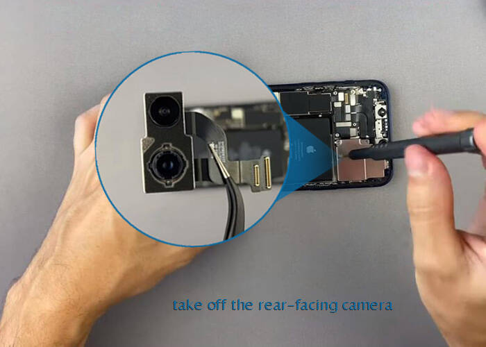 Take off the iPhone 12 rear-facing camera