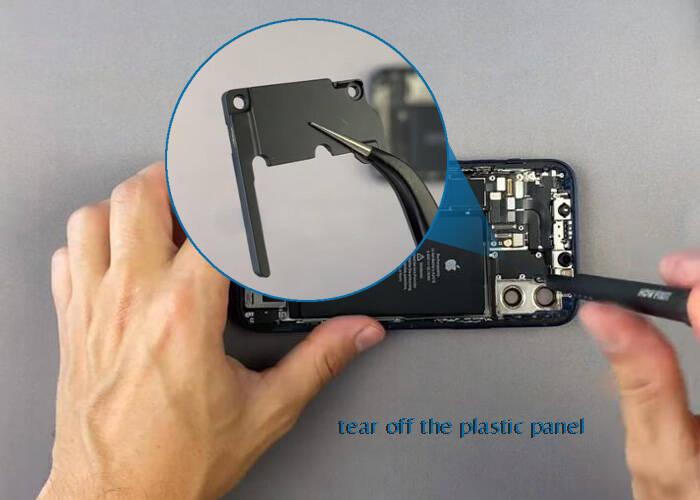 Take off the plastic panel