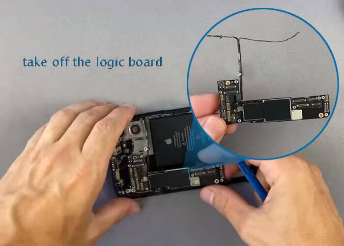 Take off the iPhone 12 logic board
