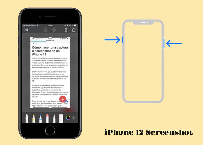 Easy screen on iPhone 12
