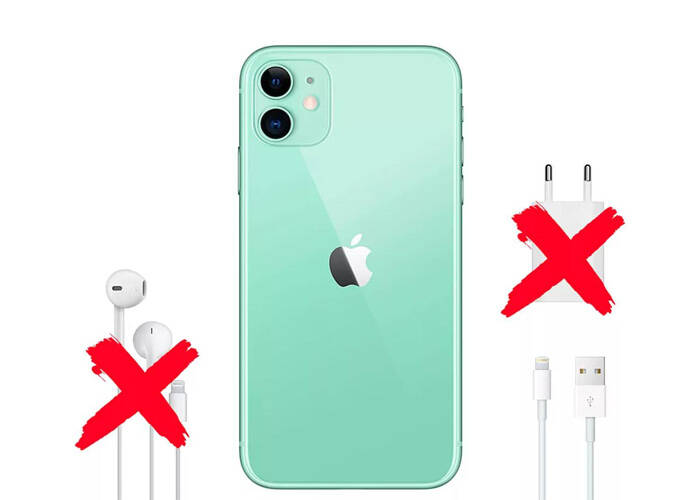 iPhone 12 no charger and earbuds