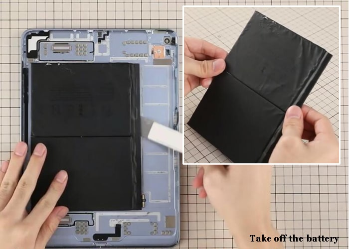 Take off the iPad 4 battery