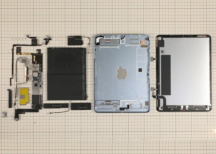 Classify the iPad 4 parts and components