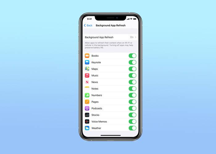 Turn on Background App Refresh