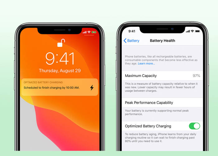 Turn on Optimize your battery charging time