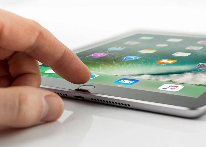 Why iPad home button is falling in after repair