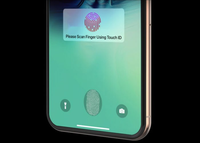 iPhone 13 under-screen touch ID