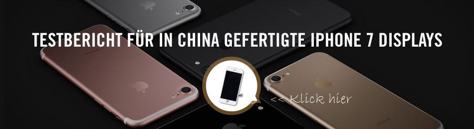 Testbericht für in China gefertigte iPhone 7 Displays